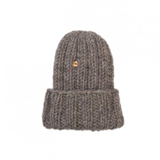 grobstrick mütze kivi schafswolle