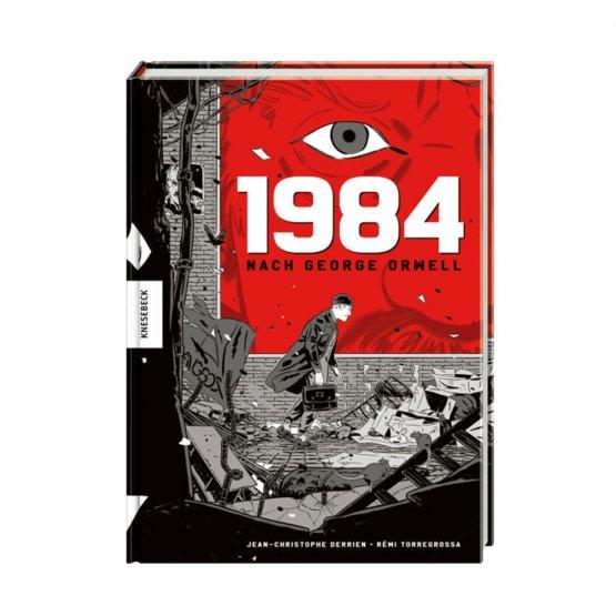 Graphic Novel 1984 nach dem Roman von George Orwell - Cover. Erschienen im Knesebeck Verlag