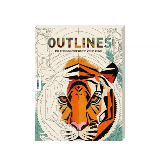 Outlines - Das große Ausmalbuch von Dieter Braun für Kinder und Erwachsene aus dem Knesebeck Verlag