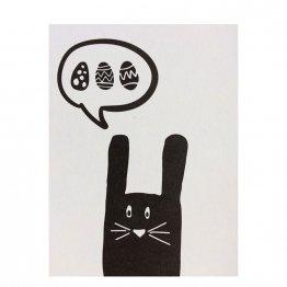 Postkarte mit Osterhase