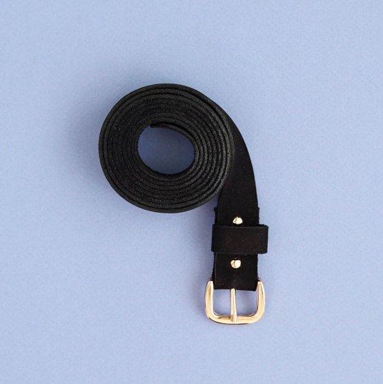 Eco Leder Gürtel in schwarz