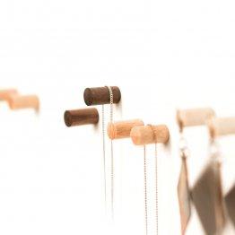 magnetischer Holzpunkt in Ahorn, Buche und Nussholz