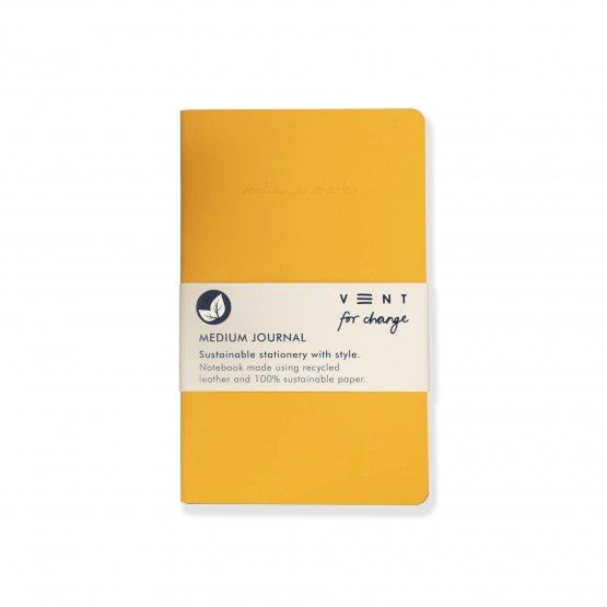 A5 Journal make a mark yellow