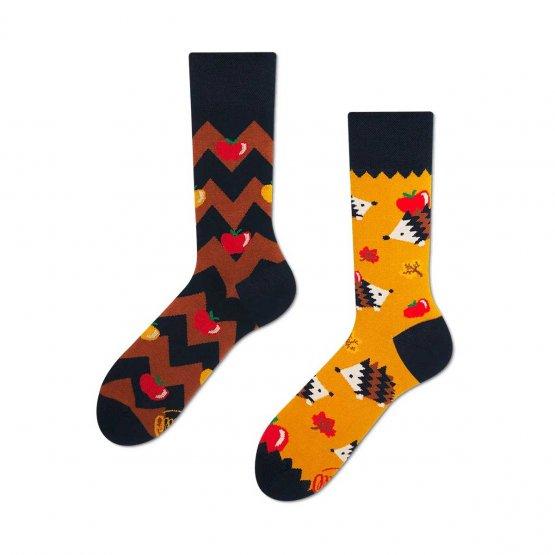 Mismatched Socken mit Igeln von Many Mornings