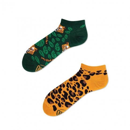 Sneakersocken mit Leoparden-Print