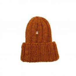 strickmütze schafswolle orangebraun von myssy