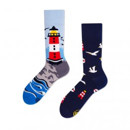 """Nordic Lighthouse"" Socken mit Leuchtturm von Many Mornings"