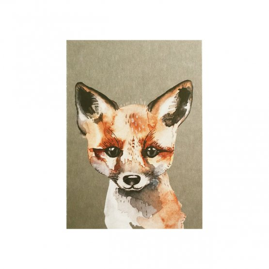 Postkarte Fuchs von NUUKK