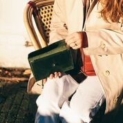 """große Geldbörse aus schwarzem Leder """"Pixie's Pouch"""" von O my Bag"""