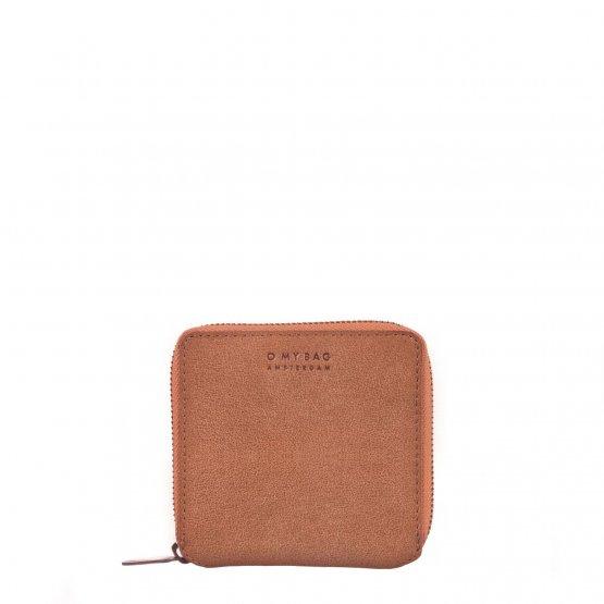 kleine eckige Geldbörse Sonny in hellem Camel Braun von O my Bag