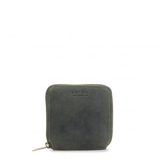kleine eckige Geldbörse Sonny in Hunter Green von O my Bag