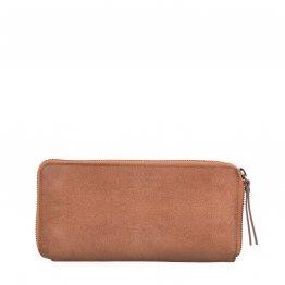 große eckige Geldbörse Sonny in hellem Camel Braun von O my Bag