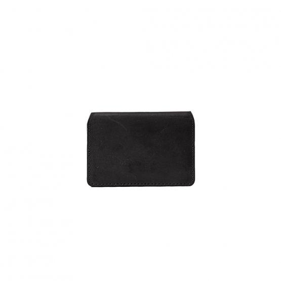 Cassie's Cardcase - aufklappbares Kartenetui in Schwarz aus Eco-Leder von O My Bag