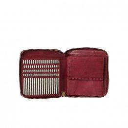 rote eckige Geldbörse von O My Bag - Innenansicht Details