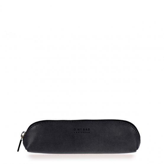 Federtasche aus schwarzem Leder von O my Bag
