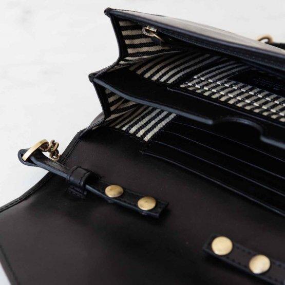 schwarze Handtasche Josephine von O My Bag - Details innen
