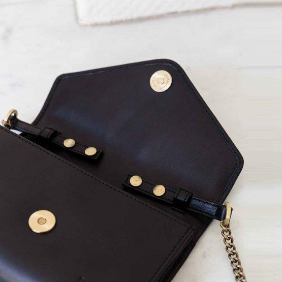 schwarze Handtasche Josephine von O My Bag - Detailansicht