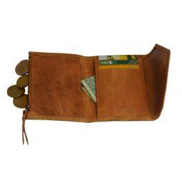"""braune kleine Ledergeldbörse """"Josie's Purse"""" von O my Bag - Detailansicht Innenleben mit Kartenfächern"""