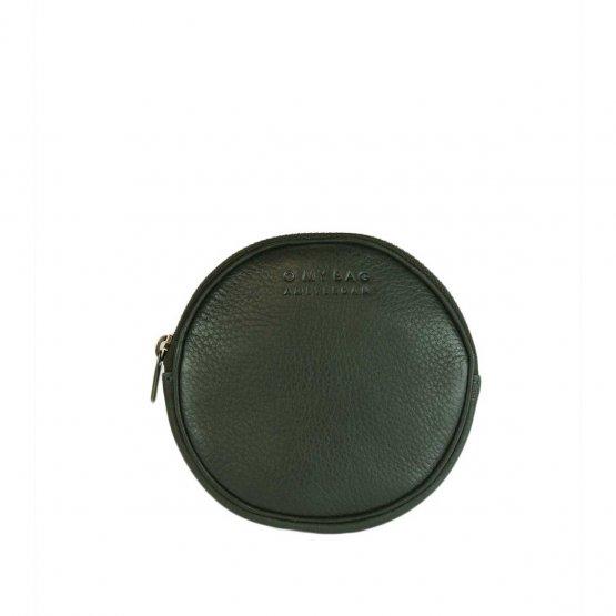 kleine runde Geldbörse aus grünem Leder von O My Bag