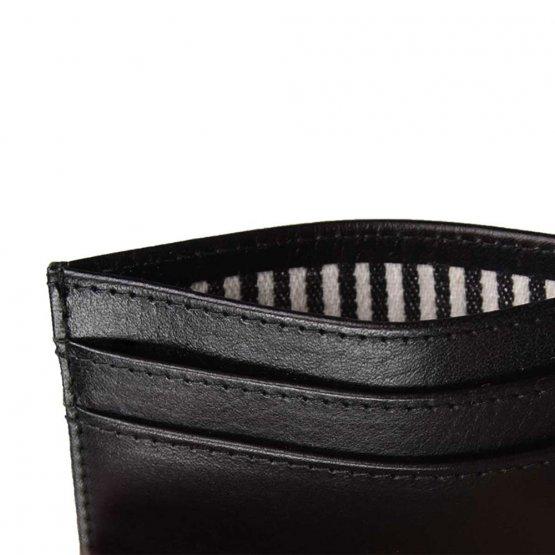 schwarzes Visitenkartenetui aus Leder von O My Bag - Detailansicht