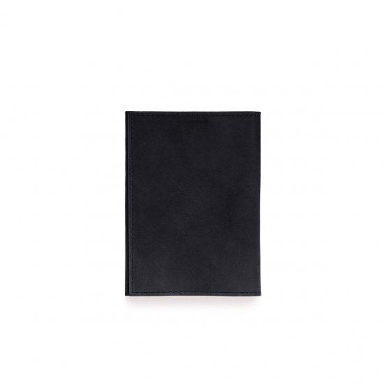 schwarzes Lederetui mit Kartenfächern für Reisepass, Mutterpass oder als Portemonnaie von O My Bag