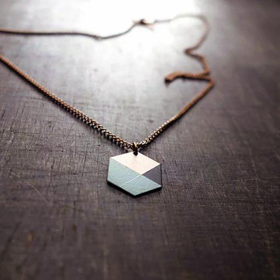 Hexagon Kette Ruby on Tuesday mint schwarz