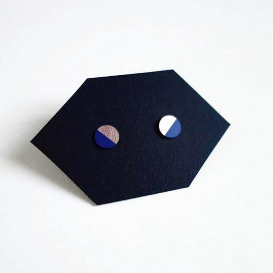 ohrstecker kreis lack marine blau