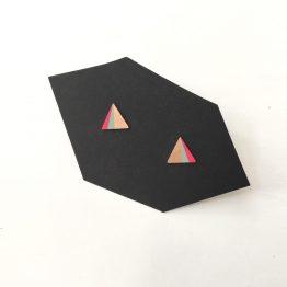 Dreieck Ohrstecker mint pink lackiert