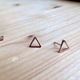 Ohrstecker mit Mini-Dreieck rosé vergoldet