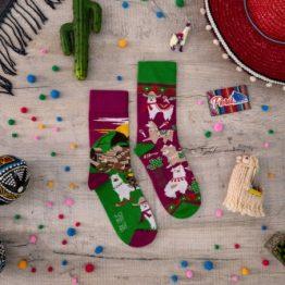 SPOX SOX Llama Socken mit Machu Picchu