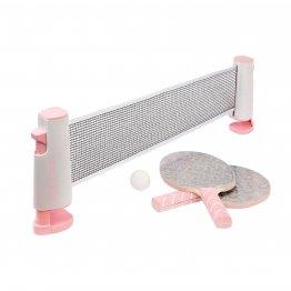 Tischtennis Ping Pong Set mit zwei Kellen, Netz und 2 Bällen