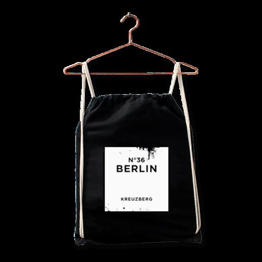 """Turnbeutel """"Kreuzberg"""" in Schwarz von Dit is Balin"""