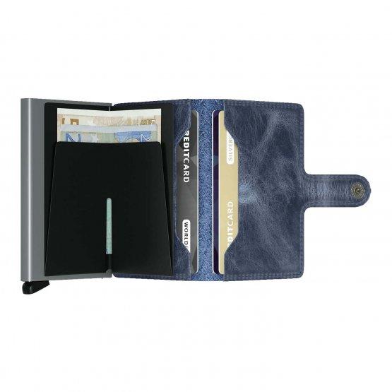 Vintage Miniwallet Blau SECRID