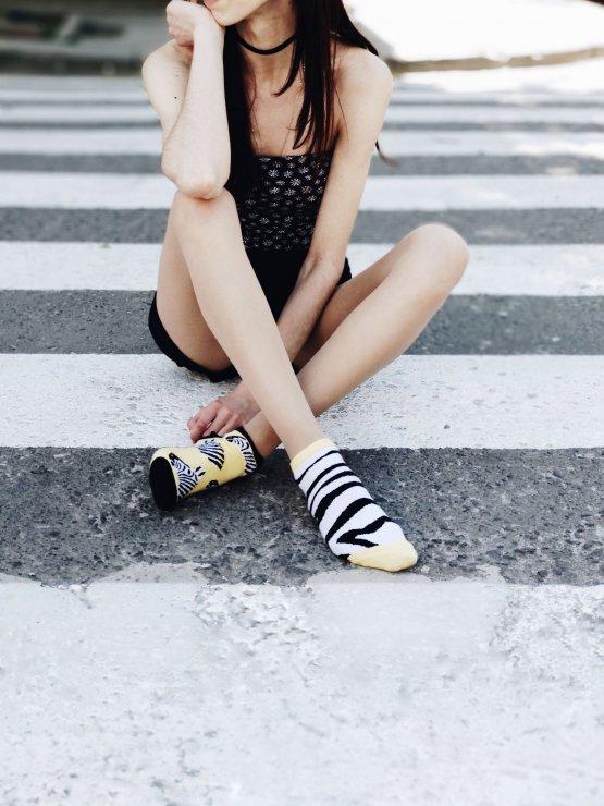 "Mismatched Zebra Socken ""Marty"" von Sammy Icon"